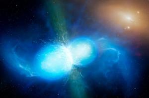 colisão de estrelas de nêutrons